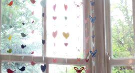 Egyszerű ablak díszek